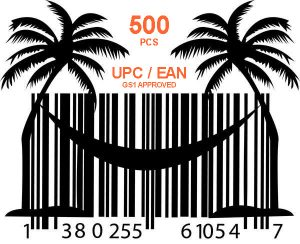 500 pcs GS1 UPC and EAN codes for Amazon and Ebay