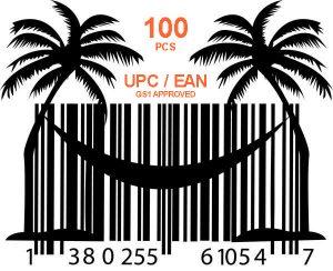 100 шт GS1 UPC EAN коды ASIN для продаж на Амазон и Ebay