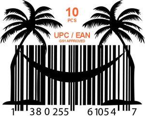 10 шт GS1 UPC EAN коды ASIN для продаж на Амазон и Ebay