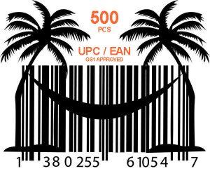 500 кодов GS1 UPC EAN для Амазон
