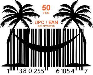 купить 50 шт GS1 UPC и EAN коды для продаж на Амазон и Ebay